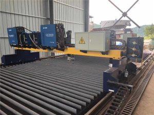 Dvostruki pogon gantry CNC stroj za rezanje plazme za rezanje čvrste čelične proizvodne linije